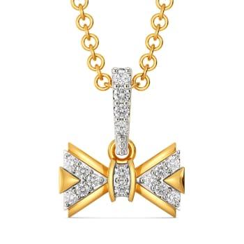 Bow N Beyond Diamond Pendants