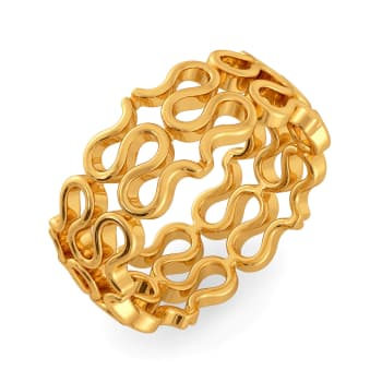 Knot On Gold Rings