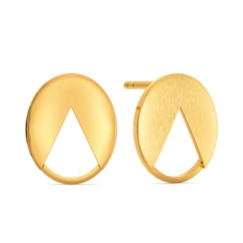 Office Sequins Gold Earrings