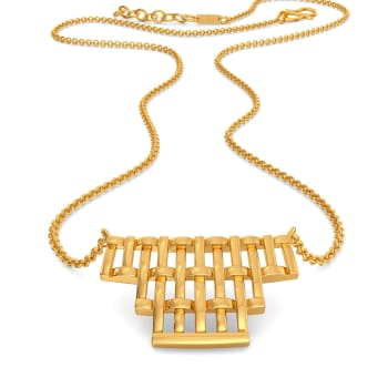 Basket Knits Gold Necklaces