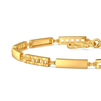 The Plaid Play Gold Bracelets
