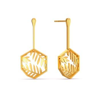 Fun o Fern Gold Earrings