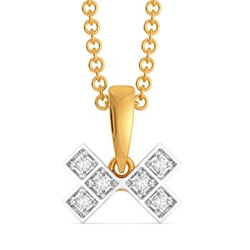 Plaid Pass Diamond Pendants