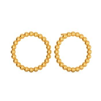 Bead Bouts Gold Earrings