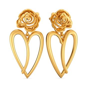 Heart of the Rose Gold Earrings