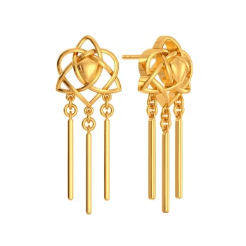 What Knots Gold Earrings