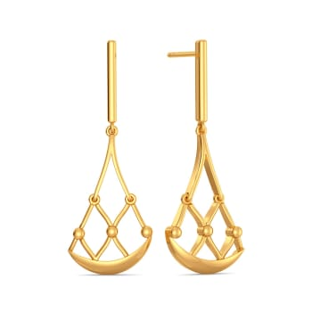 Mesh Medley Gold Earrings
