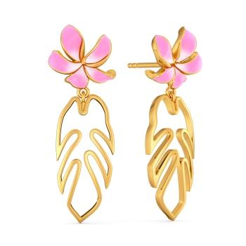 Petals & Ferns Gold Earrings