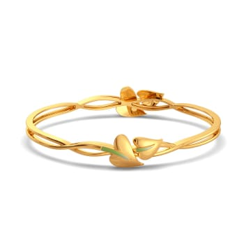 Leaf Lance Gold Bangles