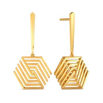 Bold Sheers Gold Earrings