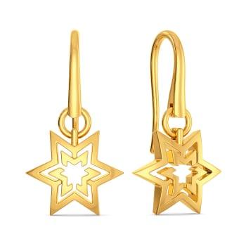 Golden Trio Gold Earrings