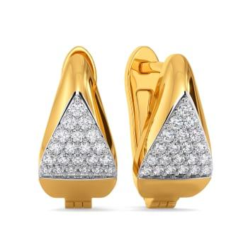 Hip Hems Diamond Earrings