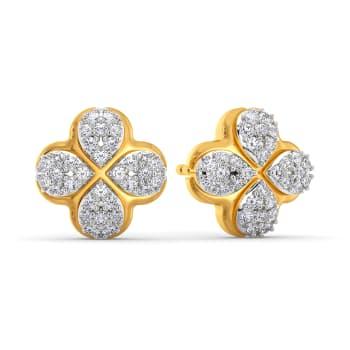 Flower Flair Diamond Earrings