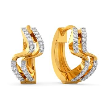 French Curves Diamond Earrings
