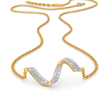 Structural Drama Diamond Necklaces