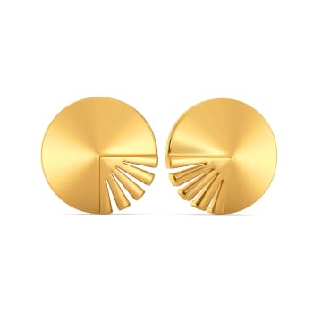 Bold Strokes Gold Earrings