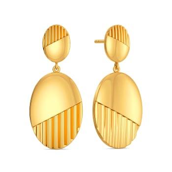 Basket Brooch Gold Earrings