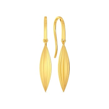 Frill Thrill Gold Earrings