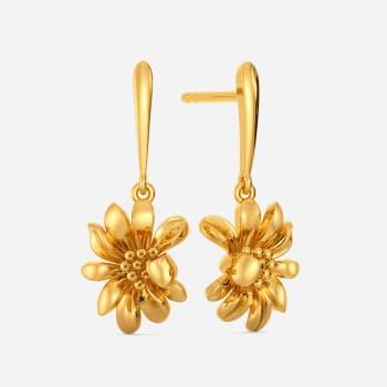 Daisy Glory Gold Earrings