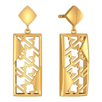 Tweed Theory Gold Earrings