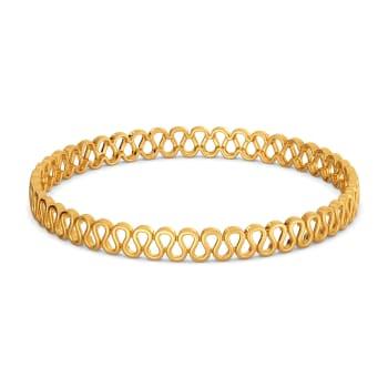 Knit Detail Gold Bangles