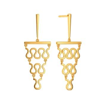 Versatile Knits Gold Earrings