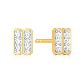 Spots and Stripes Diamond Earrings