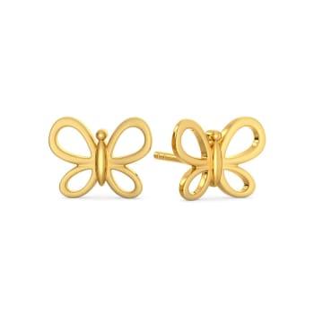 Butterfly Mystify Gold Earrings