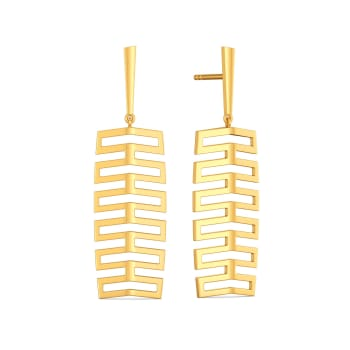 Fancy Folds Gold Earrings