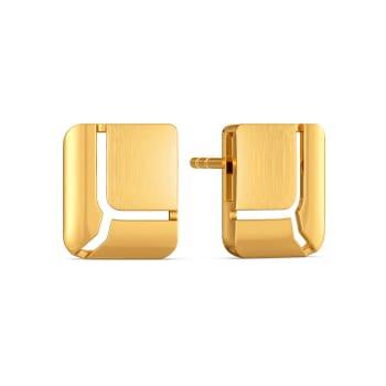Sophistique Edge Gold Earrings