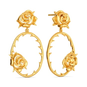 Thorn Theory Gold Earrings
