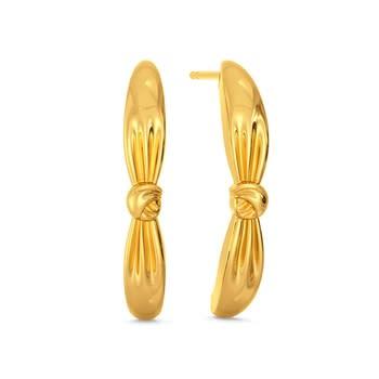 Knot Plot Gold Earrings