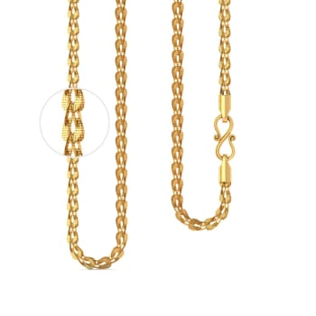 22kt Petal Link Chain Gold Chains