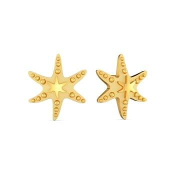 Star Shell Gold Earrings