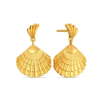 The Clam Drop Gold Earrings