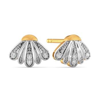 The Scallop Scale Diamond Earrings