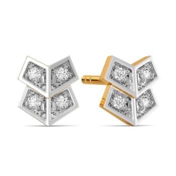 A Grid Game Diamond Earrings