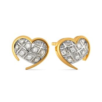 Checkered Love Diamond Earrings