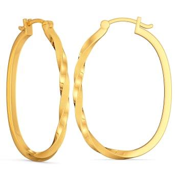 Calmly Classic Gold Earrings