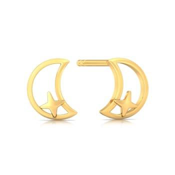 Cosmic Dance Gold Earrings