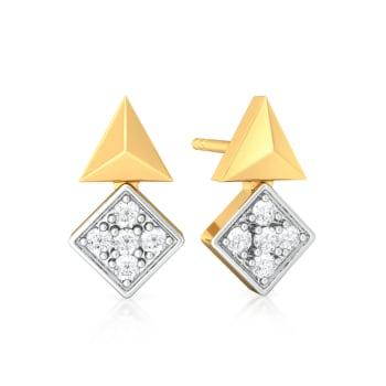 Parallel Spell Diamond Earrings