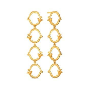 Vine Repeat Gold Earrings