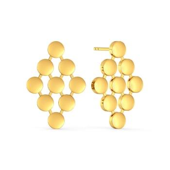 Shimmer N Glimmer Gold Earrings