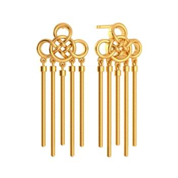 Slay in Crochet  Gold Earrings