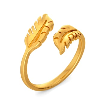 Feather Find Gold Rings