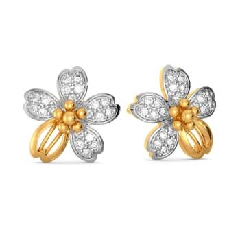 Floral Feat Diamond Earrings