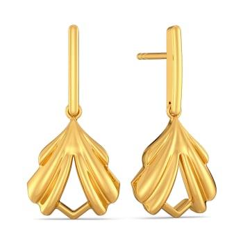 Sculptured in Greek Gold Earrings