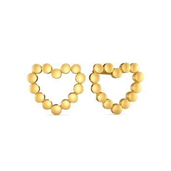 Dancing Hearts Gold Earrings