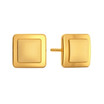 Elegant Edge Gold Earrings