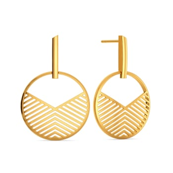 See Through  Gold Earrings